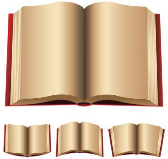 open book free vector