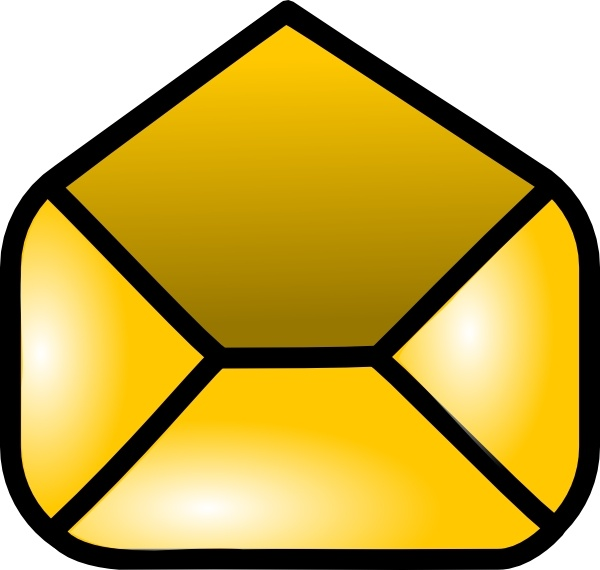 Open Envelope Icon clip art Free vector in Open office ...