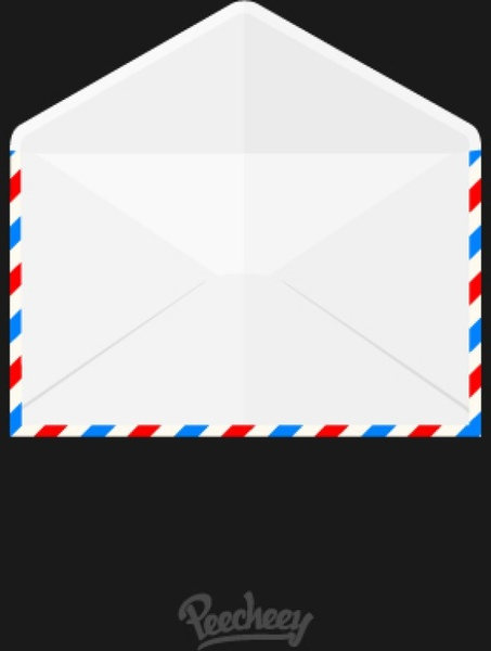 Opened airmail envelope icon Free vector in Adobe ...