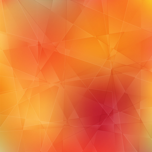 Orange 3d Geometric Abstract Background Free Vector In
