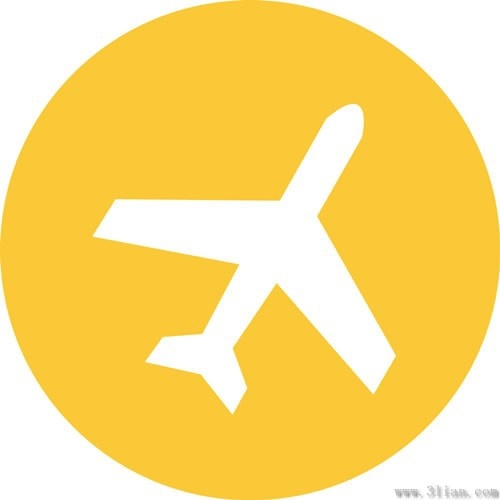 Orange Airplane Icon Vector Free Vector In Adobe Illustrator Ai