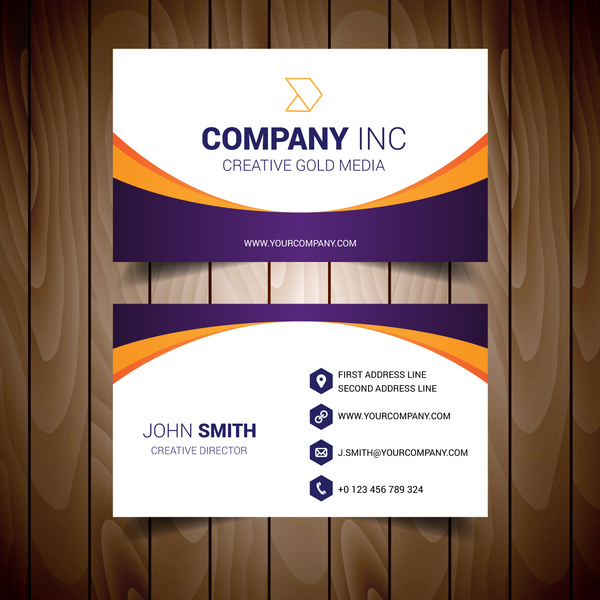 Orange and purple bordered white business card free vector in adobe orange and purple bordered white business card free vector 224mb reheart Image collections