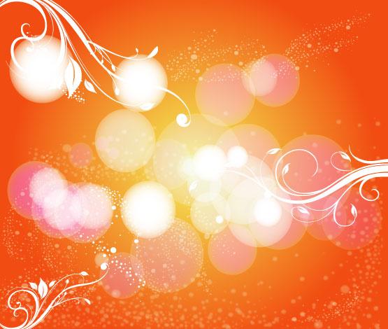 orange background with swirly