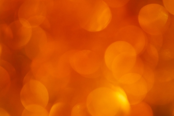 orange blurred lights