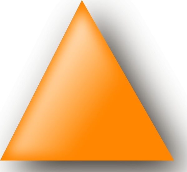 Orange Triangle Clip Art Free Vector In Open Office