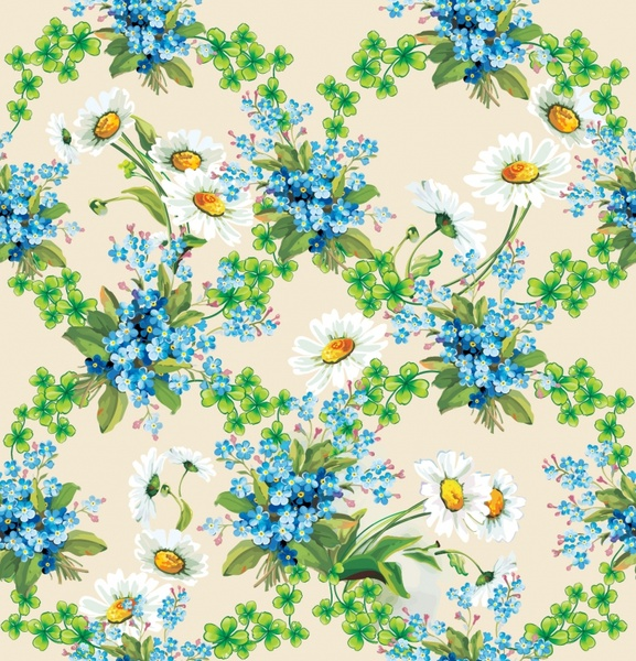 orchids flowers background vector