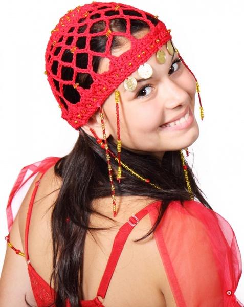 oriental dancer smiling