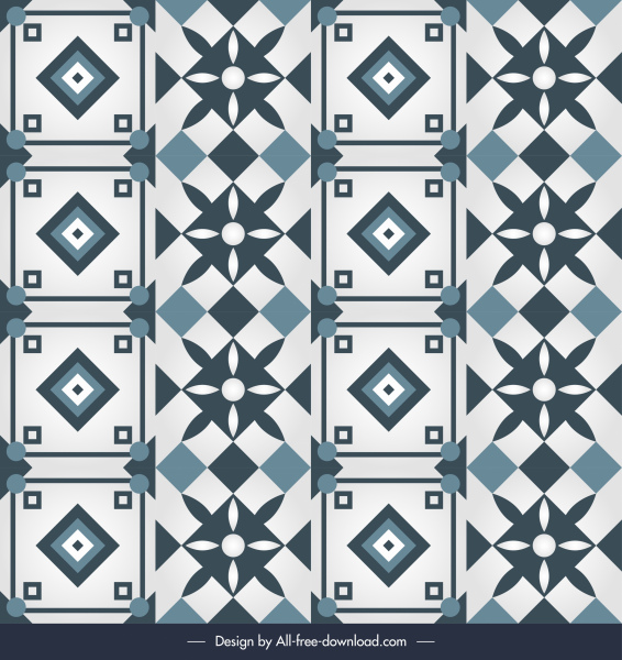 oriental pattern template classical flat repeating symmetrical decor