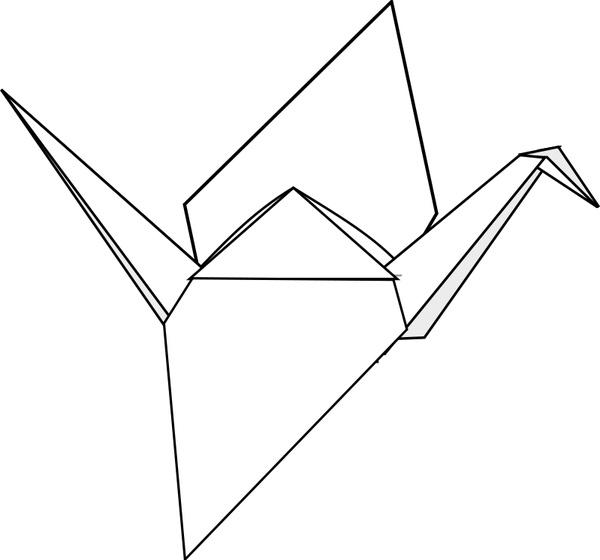 Origami Crane Free Vector 5438KB