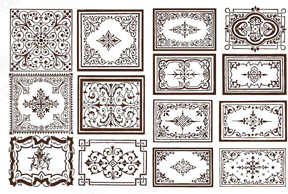 ornate border frame vector