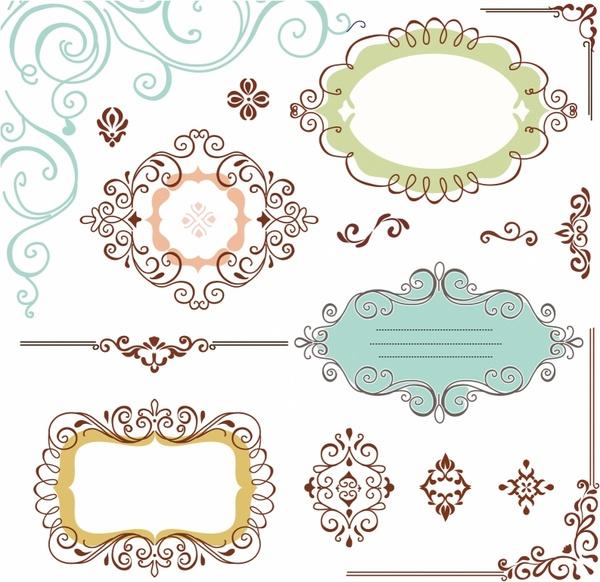 Ornate Frames Free vector in Adobe Illustrator ai ( .AI ...