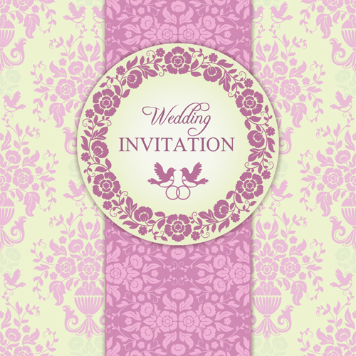 Ornate Pink Floral Wedding Invitations Vector Free Vector In Encapsulated Postscript Eps Eps Vector Illustration Graphic Art Design Format Format For Free Download 4 96mb