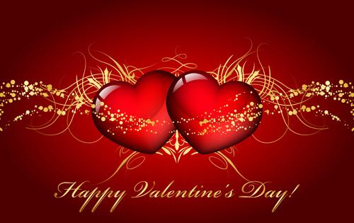 ornate valentine day art card vector