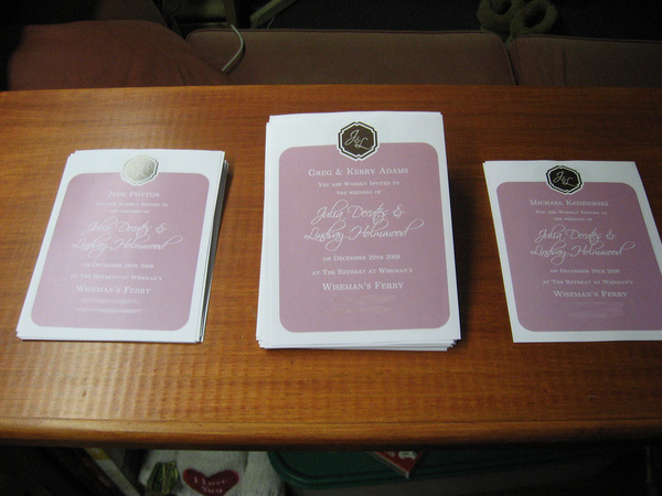 our wedding invitations front on