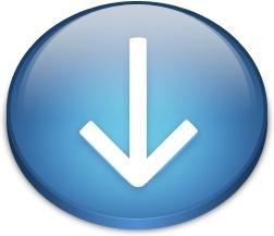 Oval blue download arrow