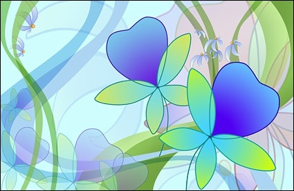oversized ultra clear theme flower layered psd1