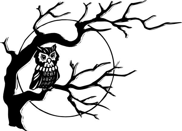owl on tree branch clip art free vector in open office Orange Owl Clip Art Christmas Owls Clip Art