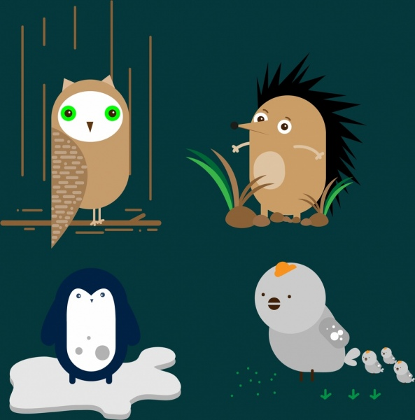 porcupine images cartoon owl free vector download 328 free vector for commercial 7775