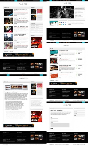 package of practical web template psd layered