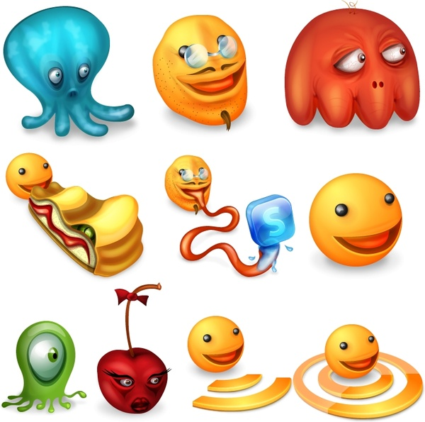 Pacman Returns Icon Set icons pack