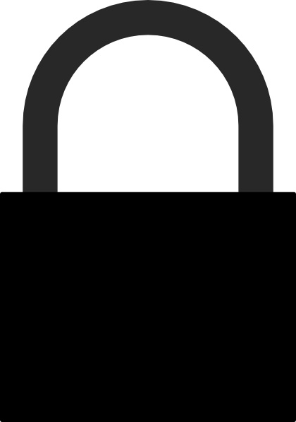 Padlock Silhouette Clip Art Free Vector In Open Office