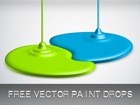 green and blue paint drops background spill design