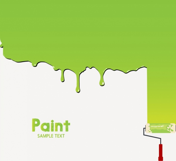 paint work background green water color brush icon