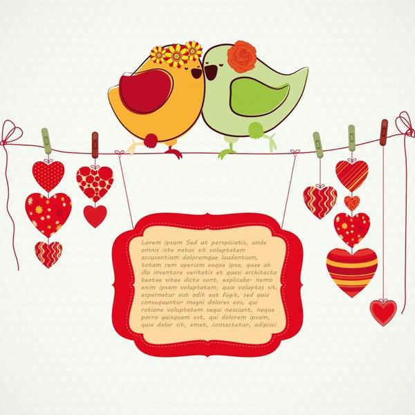 painted love birds vector
