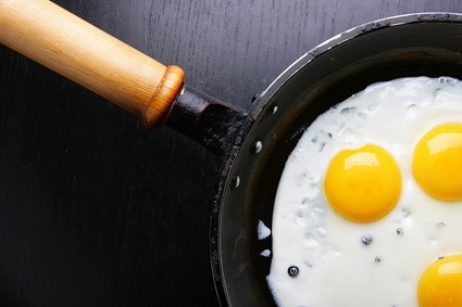 pan fried egg quality picture