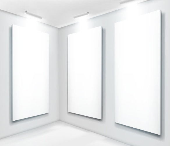 panels and spotlights elements vector