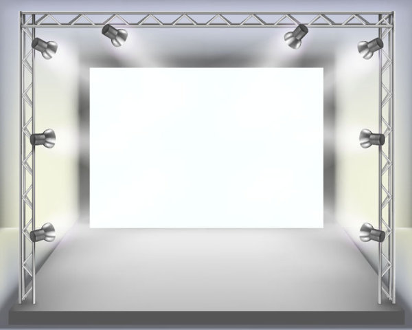 panels and spotlights elements vector