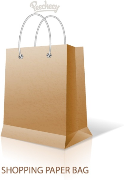 paper bag with handles template free vector in adobe illustrator ai