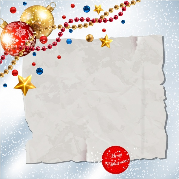 Paper banner for holidays greeting message and Christmas decoration