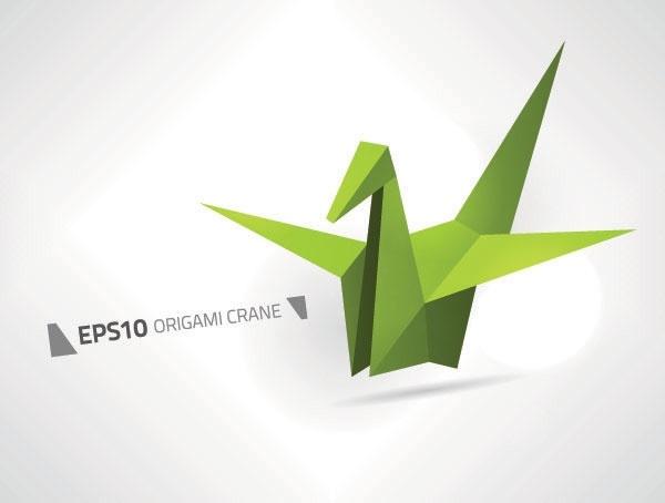 paper cranes vector
