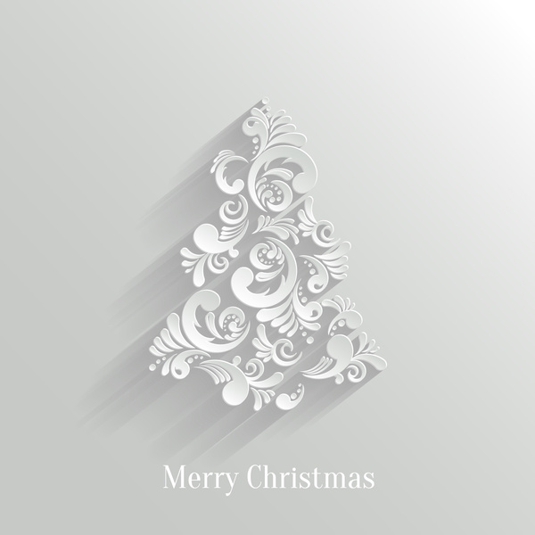 Paper Floral White Christmas Backgrounds Vector Free Vector In Adobe