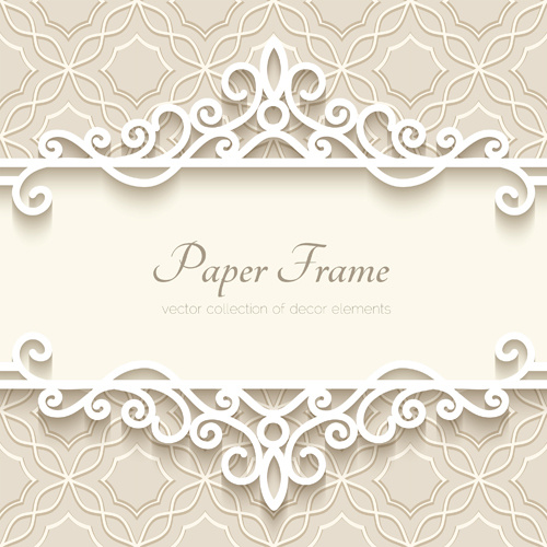 Paper frame with beige background vector Free vector in Encapsulated ...