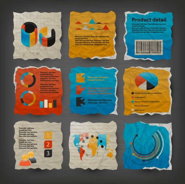 paper label stickers 03 vector