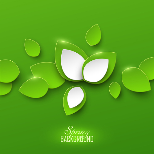 paper leaves spring background vector