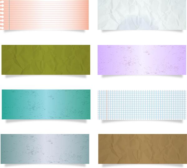paper piece design element set
