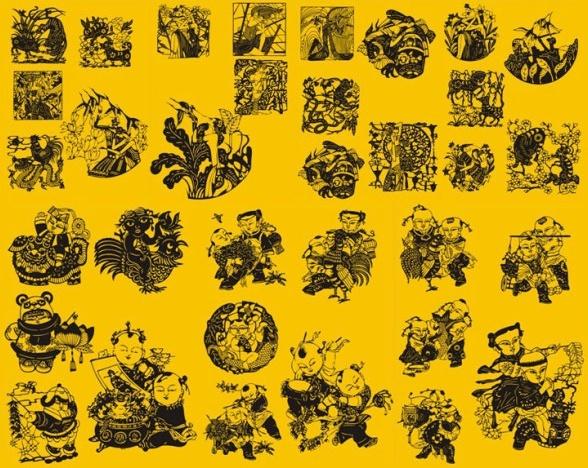 papercut character art vector