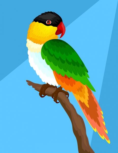 parrot background colorful 3d design