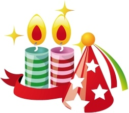 Party hat candles