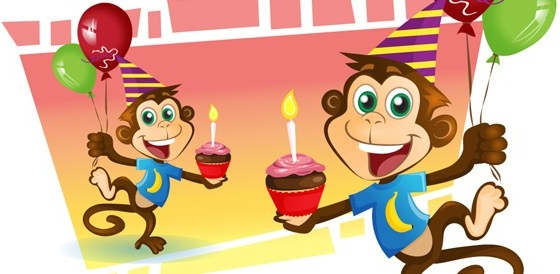 Party monkey vector character Free vector in Adobe