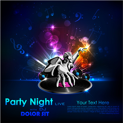party night flyer background vector