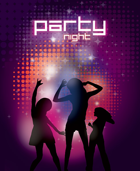 party night vector graphic