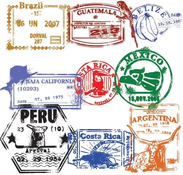 passport stamp seal 02 vector