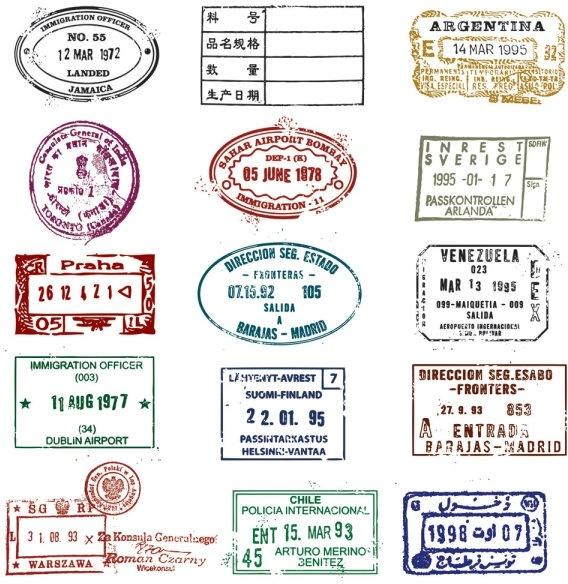 passport stamp seal 03 vector