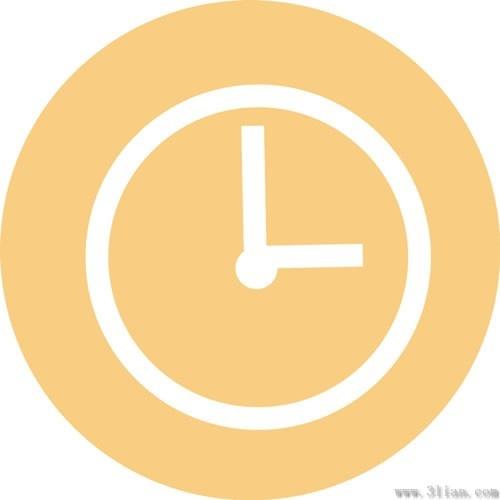 Pastel background clock icon vector Free vector in Adobe ...