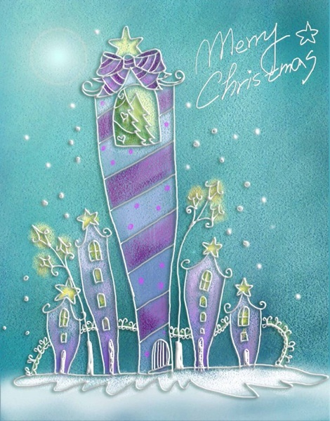 pastels handpainted christmas illustrator psd layered 10