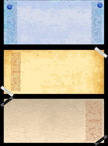 vintage pattern templates colored elegant plain decor